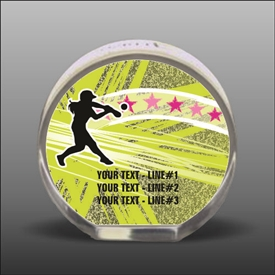 Full Color Printed Softball Acrylic Award