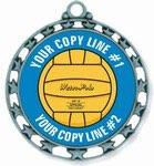 Water Polo Medal 2-1/2""