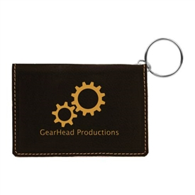 Laserable Leather IF Holder Keychain