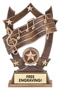 Music Sculpted Resin Trophy