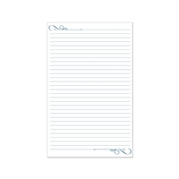 Ruled paper for our tablet holders, or a variety of uses.