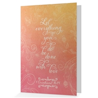 Love Never Fails anniversary or wedding card- 1 Corinthians 16:14