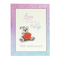 Get Well biblical greeting card based on 1 Corinthians 13:7