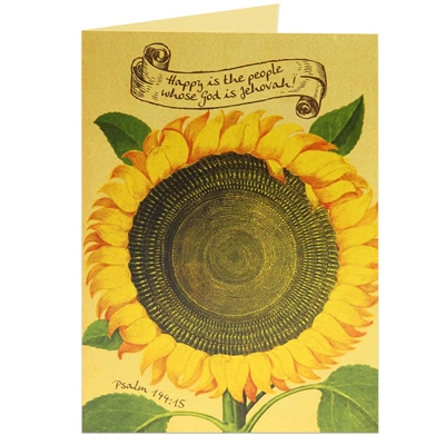 Scriptural Greeting Card-'Happy Is The People Whose God Is Jehovah'