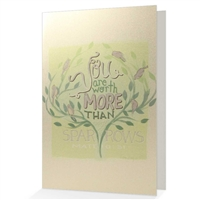 Scriptural Encouragement Greeting Card- 'Worth More Than Many Sparrows'