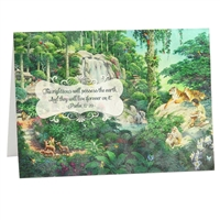 Give an Encouraging Greeting Card based on Psalm 37:29