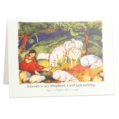 Reassure someone that God loves them, with this scriptural greeting card based on Psalm 23:1