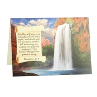 Give an Encouraging Greeting Card based on Revelation 21:4