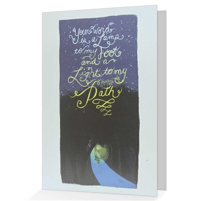 When it is difficult to come up with just the right words, our biblical greeting cards say it all. Based on Psalm 119:105