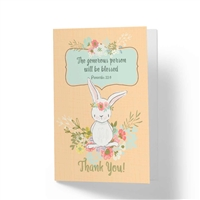 The Generous Person Will Be Blessed - Biblical Greeting Card