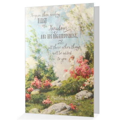 Seek First The Kingdom' Scriptural Greeting & Encouragement Card