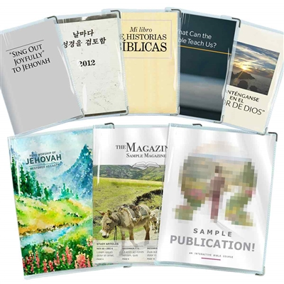 Clear Vinyl Book Covers for Watchtower Publications