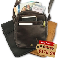 Womens Leather Jehovah Witness Satchel in Brown or Black