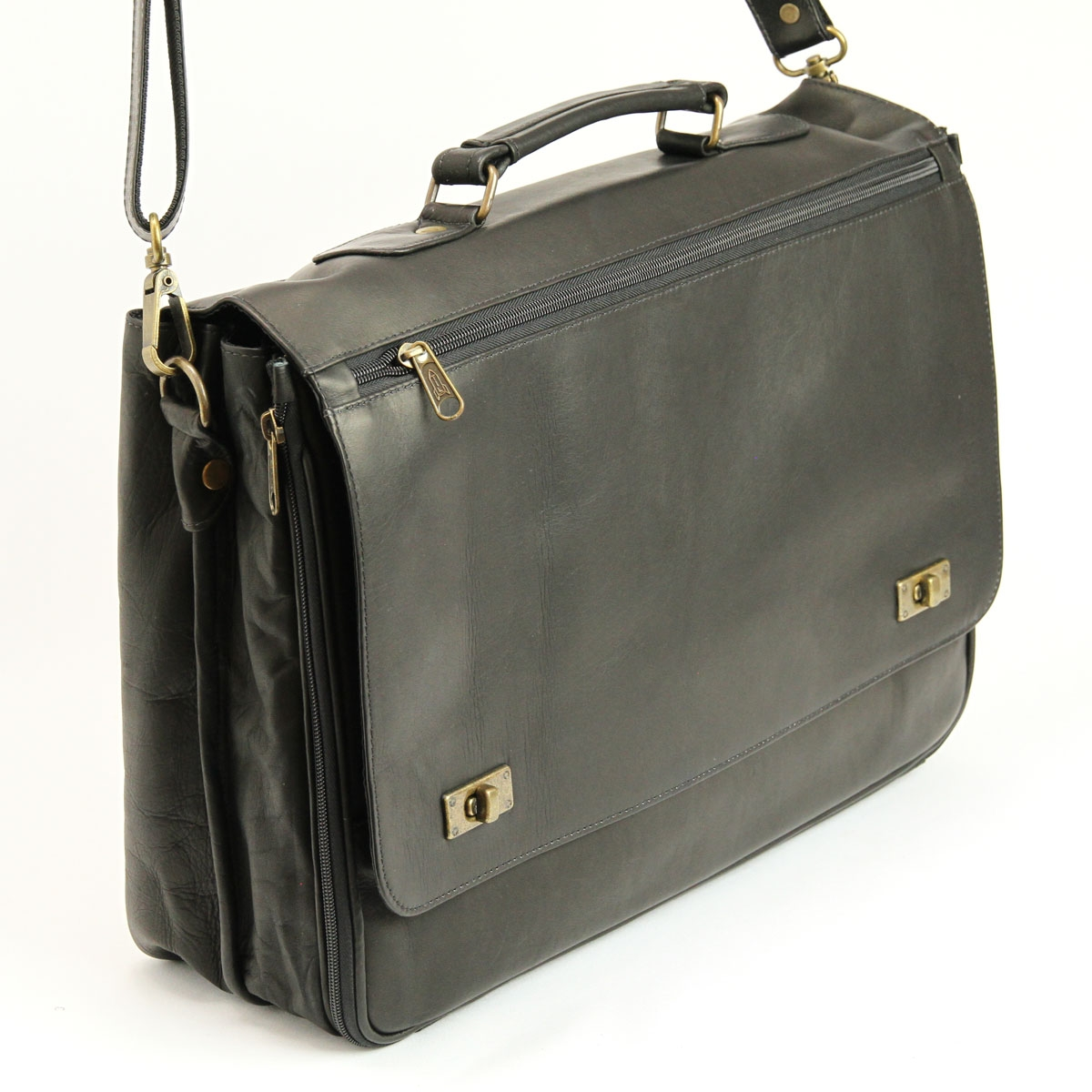 Men's Leather Briefcase in Black | Quality Leather Laptop Bag