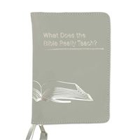 Zipper cover for What does the Bible Really Teach? In Brown Black and Gray