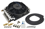 Derale - 16 Pass Electra-Cool Remote Transmission Cooler Kit, -8AN Inlets