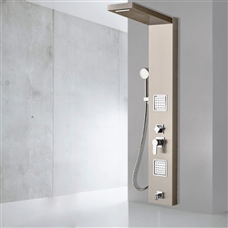 Fontana Brushed Nickle Luxury Pulsating Massage Shower Panel