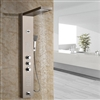 Luxury Digital Display Brushed Nickel Finish Shower Panel with Handheld Shower Head