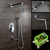 Milan Wall-Mounted Rainfall Shower Set with Handshower & Tub Spout
