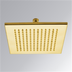 Gold Plated shower head multicolor led