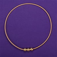 1 Sacred Cubit Light-Life Ring, 24K Gold Plated 3 Beads
