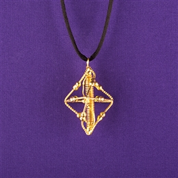 Pyramid Pendant - Copper - 24K Gold Plated
