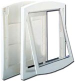 "Clear Hard Door Flap Small White 9.5"" x 1.5"" x 8"""