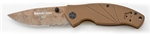 Timberline SOC® Folder, Coyote Tan Scales – Combo Edge