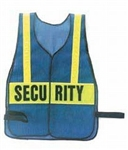 HWC Deluxe Vest - Blue vest with yellow stripe