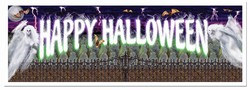 Spooky Happy Halloween Sign Banner