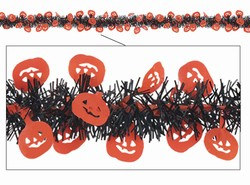 Metallic Pumpkin Fringe Garland