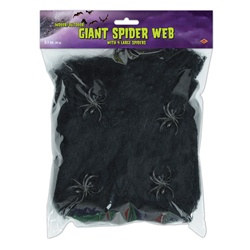 Black Flame-Resistant Giant Spider Web