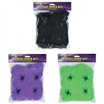 Flame-Resistant Giant Spider Web (Select Color)