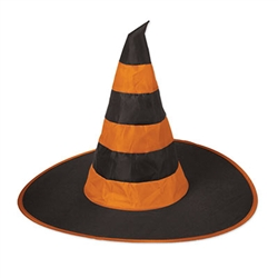 Assorted Nylon Witch Hat (Assorted Colors of Purple and Orange)