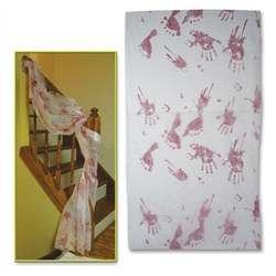 Bloody Handprints Cloth Decoration