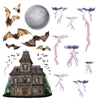 Haunted House and Night Sky Props (16/Pkg)