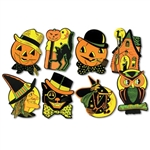 Assorted Halloween Cutouts - Four Designs (4 Designs/Pkg)
