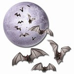 Moon and Bat Cutouts (4/pkg)
