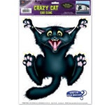 Crazy Cat Car Window Cling