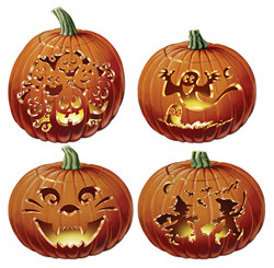 Carved Pumpkin Cutouts