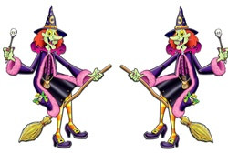 Jointed Halloween Witch Character