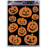 Jack-O-Lantern Window Clings (11/sheet)