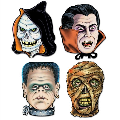 Monster Cutouts (4/Pkg)