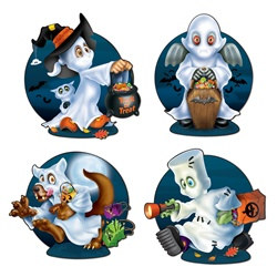 Ghost Kids Cutouts (4/pkg)