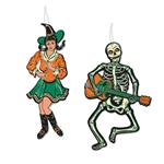 "Get your vintage groove on withe these classic Vintage Halloween Jointed GoGo Dancers.  Reproduced from the original 1966 designs.  Each package includes one 14.5"" tall jointed GoGo Witch and one 14"" tall jointed GoGo Skeleton.  Completely assembled!"
