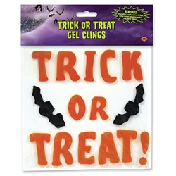 Trick Or Treat Gel Clings (15/Sheet)