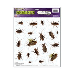 Cockroaches Peel N Place (14/sheet)