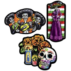 Day Of The Dead Cutouts (3/pkg)