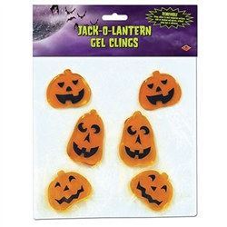 Jack-O-Lantern Gel Clings (6/Sheet)