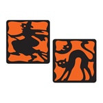 Halloween Coasters (8 Coasters Per Package)